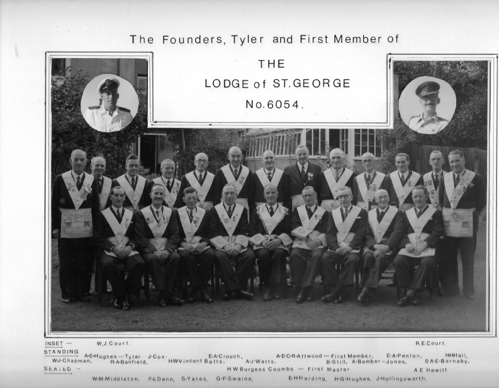 Picture of The Lodge of St. George Founding Members.